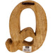 Hand Carved Wooden Geometric Letter Q - Simply Utopia