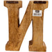 Hand Carved Wooden Geometric Letters Wine - Simply Utopia