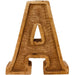 Hand Carved Wooden Embossed Letter A - Simply Utopia