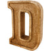 Hand Carved Wooden Embossed Letter D - Simply Utopia
