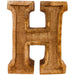 Hand Carved Wooden Embossed Letter H - Simply Utopia
