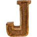 Hand Carved Wooden Embossed Letter J - Simply Utopia
