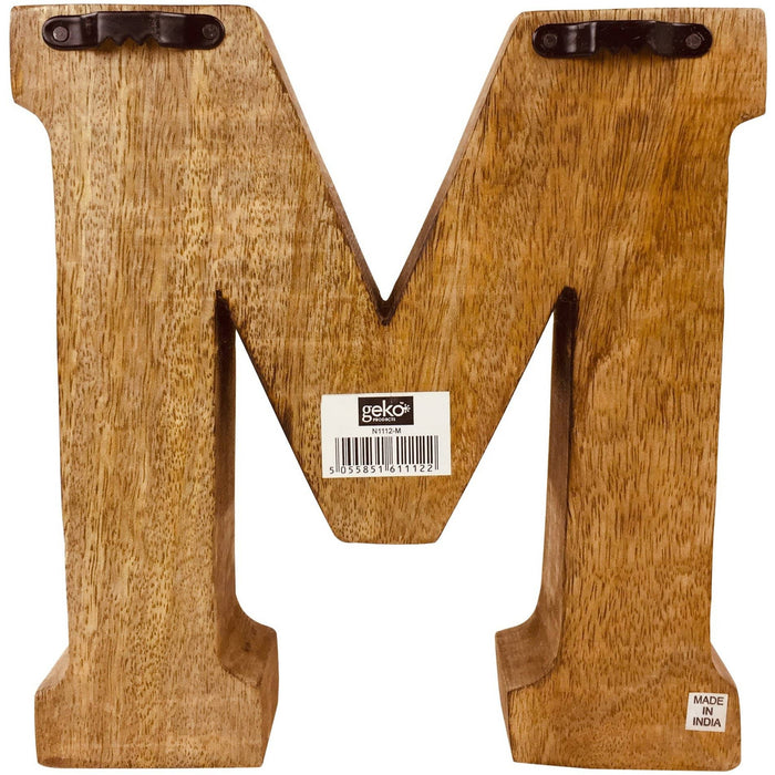 Hand Carved Wooden Embossed Letter M - Simply Utopia