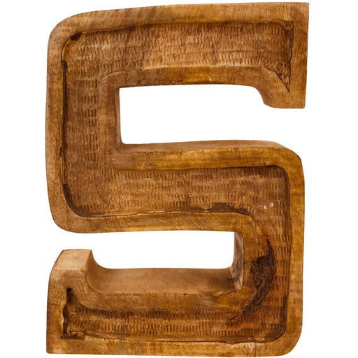 Hand Carved Wooden Embossed Letter S - Simply Utopia