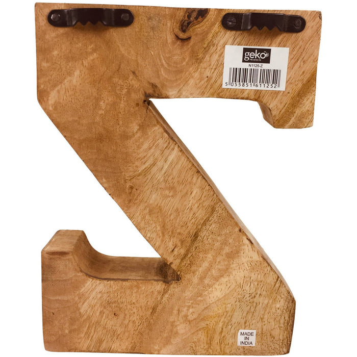 Hand Carved Wooden Embossed Letter Z - Simply Utopia