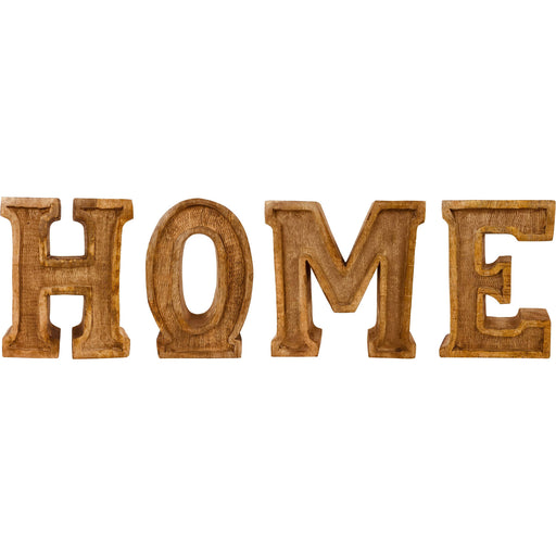 Hand Carved Wooden Embossed Letters Home - Simply Utopia