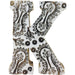 Hand Carved Wooden White Flower Letter K - Simply Utopia