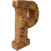 Hand Carved Wooden Flower Letter P - Simply Utopia