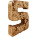 Hand Carved Wooden Flower Letter S - Simply Utopia