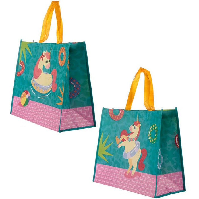 Cute Tropical Unicorn Durable Reusable Shopping Bag - Simply Utopia
