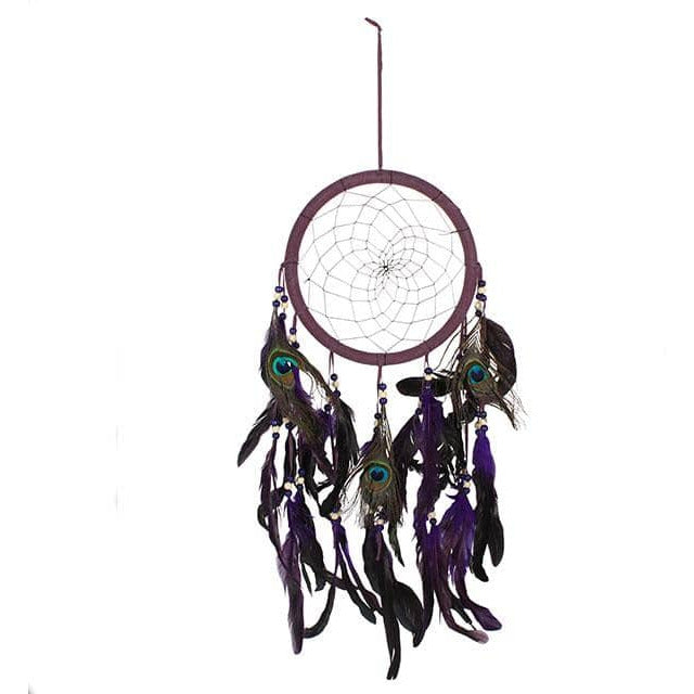 Purple Peacock Feather Dreamcatcher - Simply Utopia