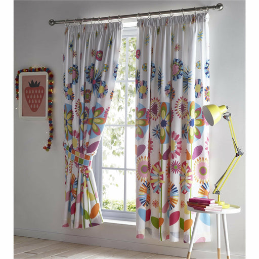 Candy Bloom Pencil Pleat Curtain - Simply Utopia