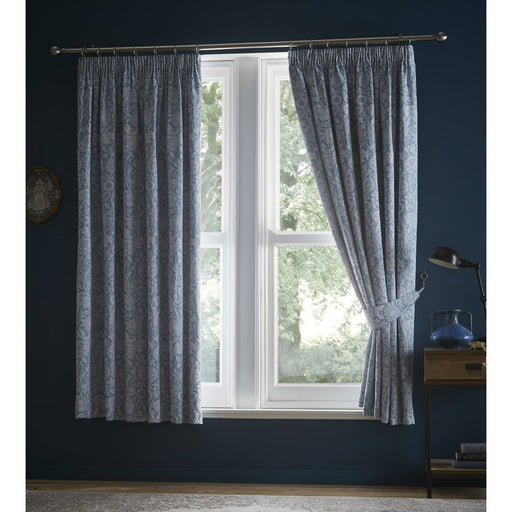 Cornflower Pencil Pleat Curtains 66x72 Inches - Simply Utopia