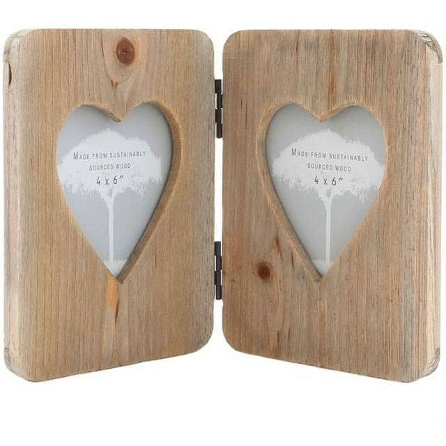 Driftwood Double Heart Photo Frame - Simply Utopia