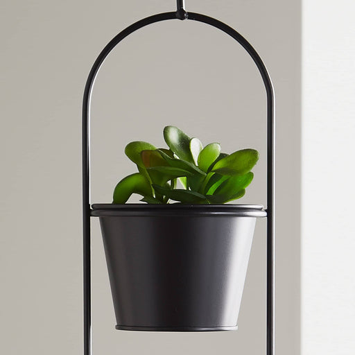 Small Duo Black Hanging Plant Holder - Simply Utopia