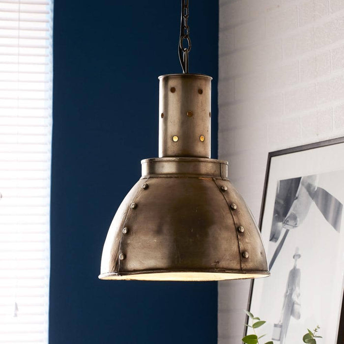 Galvanised Metallic Pendant Hanging Lamp - Simply Utopia
