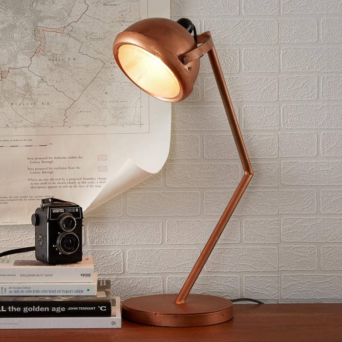 Lacquered Iron Copper Lamp - Simply Utopia