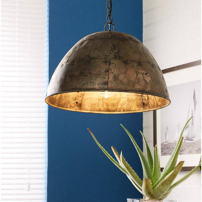 Metallic Galvanised Iron Hanging Lamp - Simply Utopia