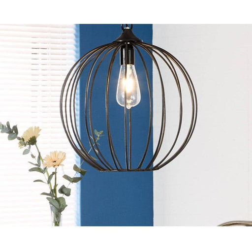 Galvanised Metal Sphere Cage Hanging Lamp - Simply Utopia