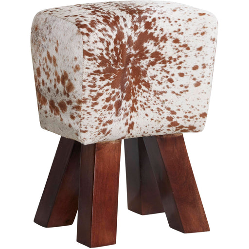 Genuine Goatskin Cowhide Style Stool - Simply Utopia