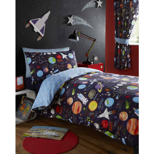 Planets Pencil Pleat Curtain - Simply Utopia