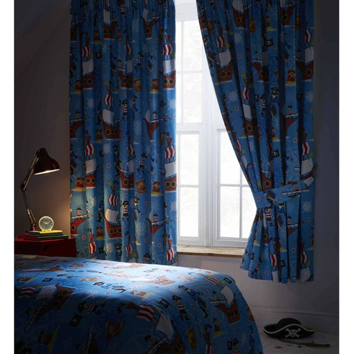 Sea Pirates Pencil Pleat Curtain - Simply Utopia