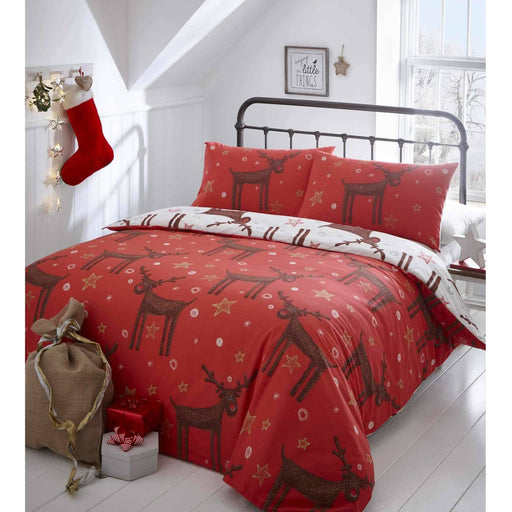 Shaggy Reindeer Duvet Set - Simply Utopia