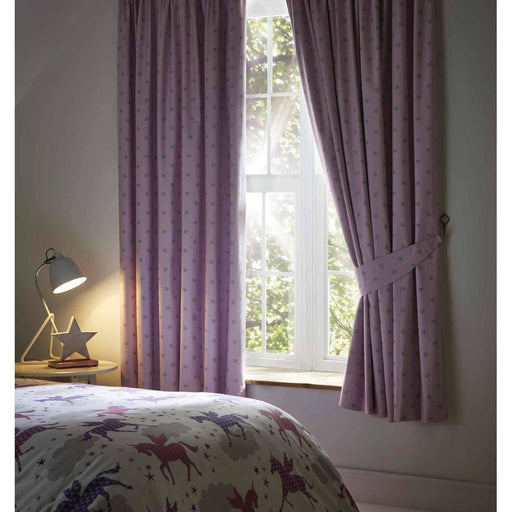Stars Pencil Pleat Blackout Curtains 66X54 Inches - Simply Utopia