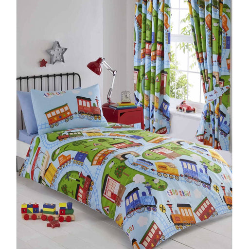 Trains Duvet Set - Simply Utopia