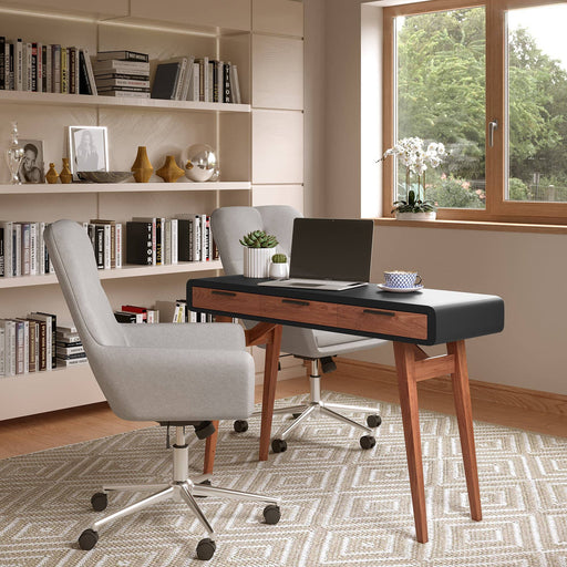 Pevensey Smooth Home Office Desk With 3 Large Drawers - Simply Utopia