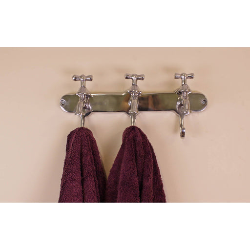 Towel Holder, Three Hooks With Tap Desgin - Simply Utopia