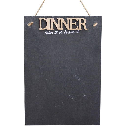 Hanging Slate Chalkboard Plaque - Dinner - Simply Utopia
