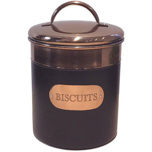Black And Copper Biscuit Tin - Simply Utopia