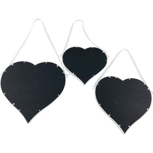 Set of 3 Hanging Heart Mirrors - Simply Utopia