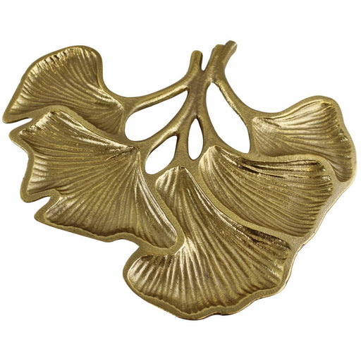 Lotus Leaf Gold Metal Decorative Plate - Simply Utopia