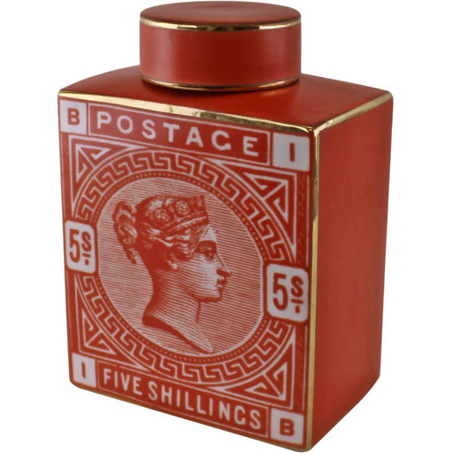 Postage Stamp Decorative Ginger Jar - Simply Utopia