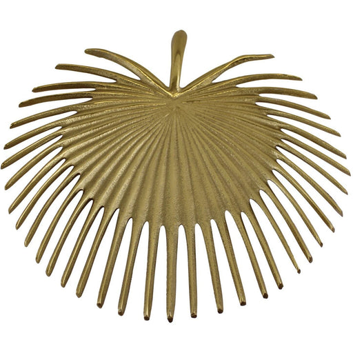 Leaf Shape Gold Metal Decorative Plate - Simply Utopia