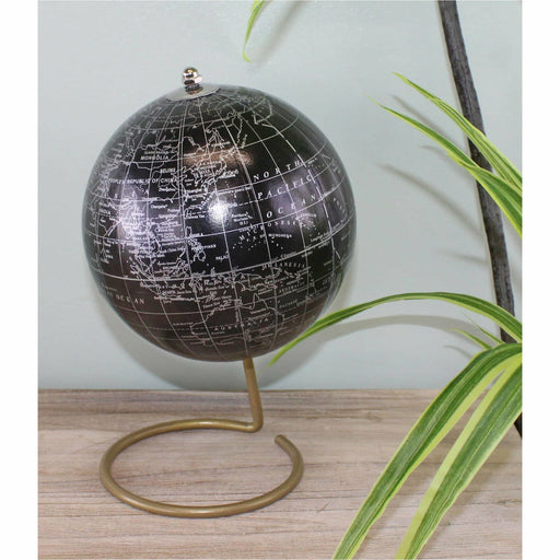 Decorative Freestanding Globe in Black - Simply Utopia