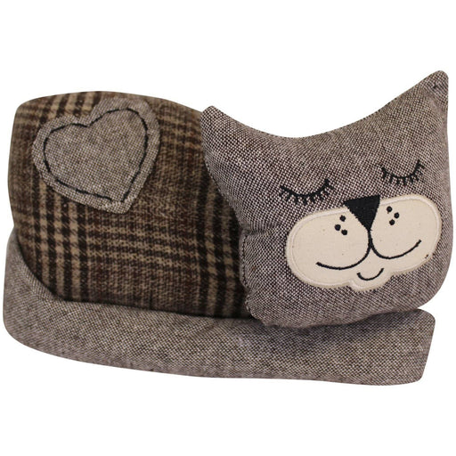 Sleeping Cat Fabric Doorstop - Simply Utopia