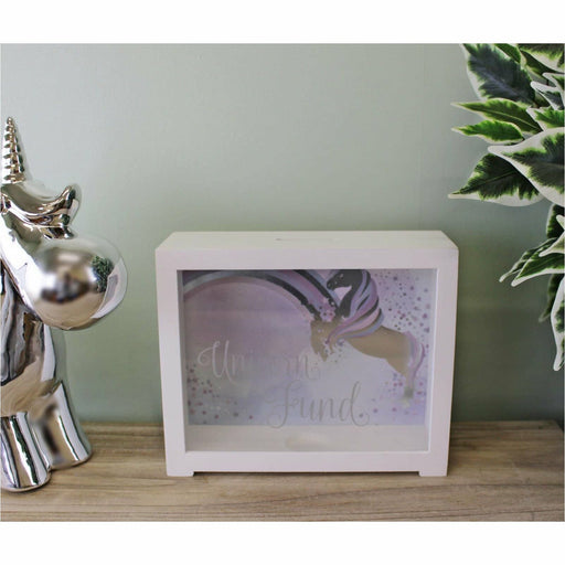 Unicorn Design Wooden Money Box - Simply Utopia