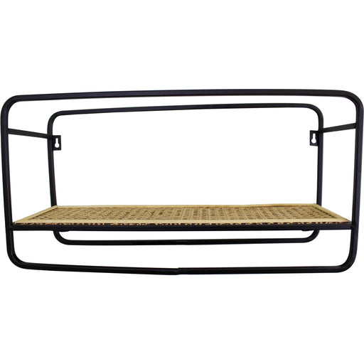Small Wall Hanging Shelf Unit in Metal Weave Effect - Simply Utopia