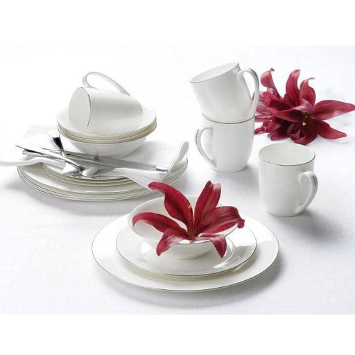 Royal Worcester Serendipity Platinum Teacup and Saucer Set of 4 - Simply Utopia