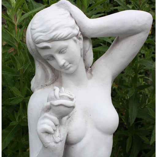 Stone Effect Garden Lady With Rose Statue - Simply Utopia