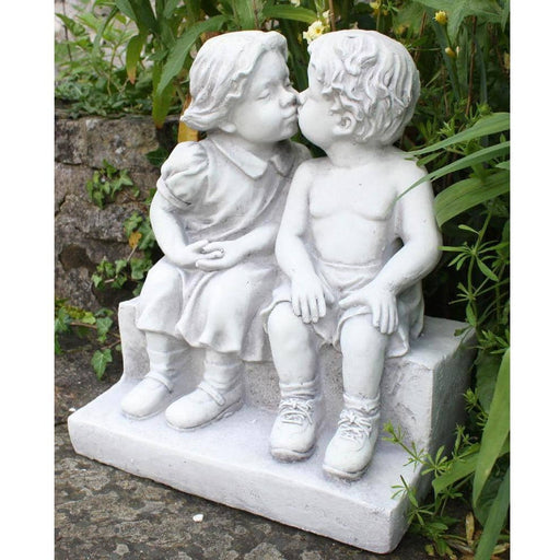 Stone Effect First Kiss Statue - Simply Utopia