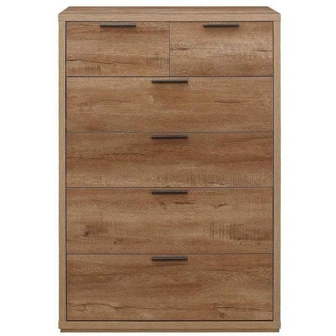 Stockwell 4 + 2 Chest Rustic Oak Effect - Simply Utopia