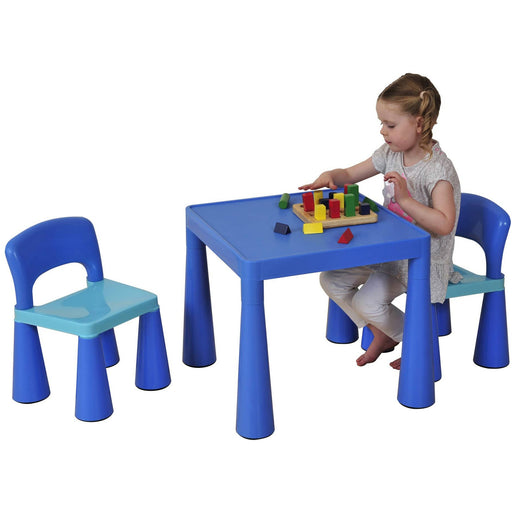 Classical Table & Chair Set - Blue - Simply Utopia