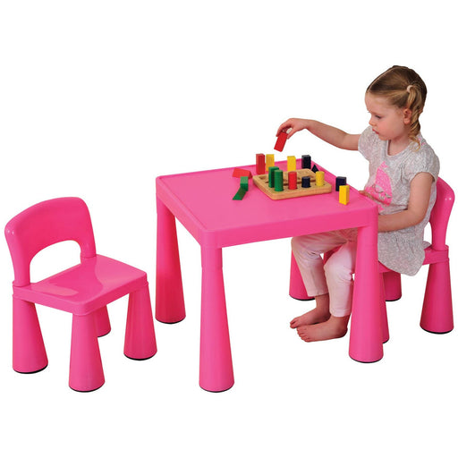 Children's Pink Table And Chairs Set - Simply Utopia