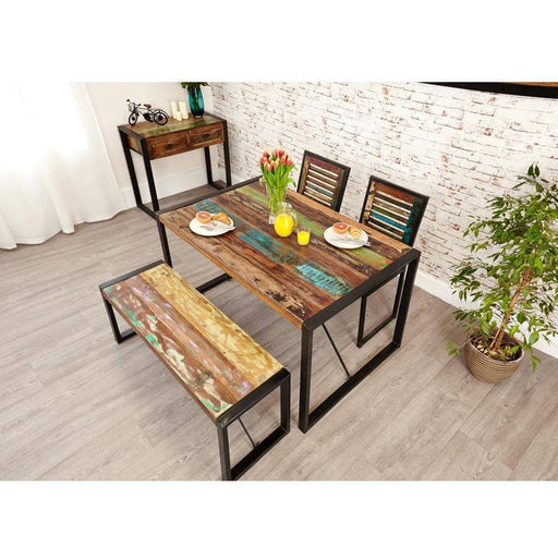 Urban Chic Table with 1 x Bench and 2 x Chairs - Simply Utopia