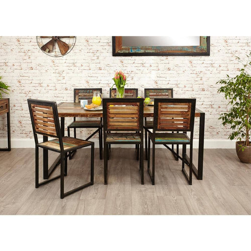 Urban Chic Large Table with 6 x Chairs - Simply Utopia