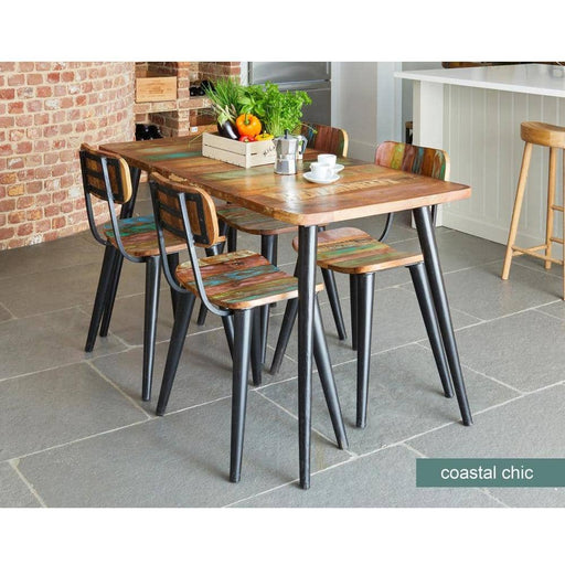 Coastal Chic Table with 4 x Coastal Chic Dining Chairs - Simply Utopia